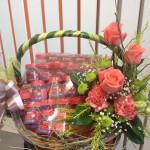 I4 : กระเช้าแบรนด์ ดอกไม้สด