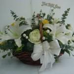 A1 : ตะกร้าดอกไม้สดเยี่ยมไข้ 600 บาท
