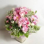 C3 : แจกันดอกไม้กุหลาบชมพู-เยอบีร่า 1000 บาท