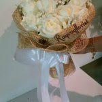 26.ช่อกุหลาบขาว 15ดอก 1,500.-